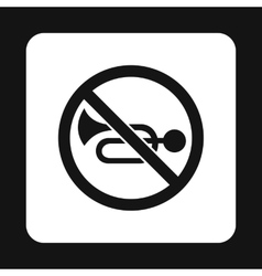 Sign no trumpet icon simple style vector image
