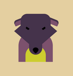 Silhouette of dog on background vector