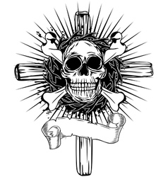 Skull cross vector