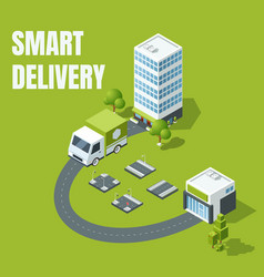 smart delivery concept vector image