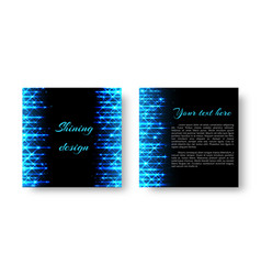 square flyer with neon light vector image