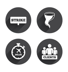 Strike icon Storm weather and group of people vector