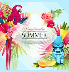 summer tropical paradise background vector image
