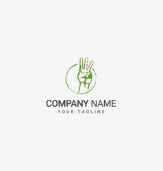 Three finger logo vector