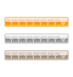 three web buttons vector image