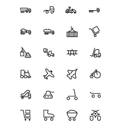 Transport Line Icons 3 vector image