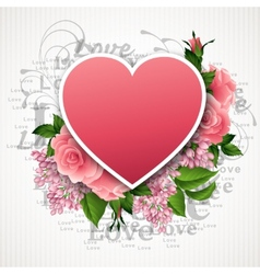 Valentines day with a heart of vector image