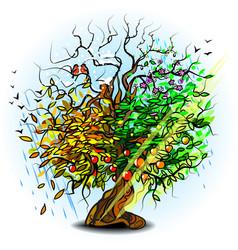 Weather calendar tree vector
