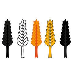 wheat ear icon set barley ear vector image