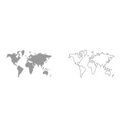World map set icon vector