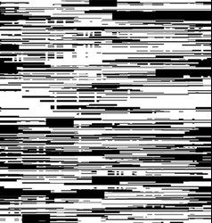 Abstract black and white background with glitch vector image vector image