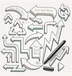 Arrows doodles hand drawn vector image vector image