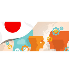 japan concept of thinking growing innovation vector image