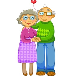 loving old couple vector image vector image