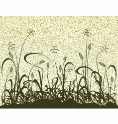 meadow grunge vector image vector image