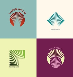 Set logos for the abstract lines The concept of vector image