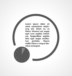 watch symbol and circle vector image vector image