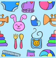 baby element set of doodles vector image vector image