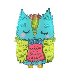 cute cartoon owl animal vector image