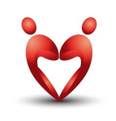 Heart figure logo vector image vector image