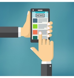 News app on smartphone screen vector image