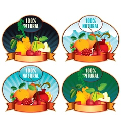 product labels with fruit vector image vector image