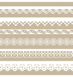 set of seamless paper laces vector image vector image