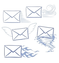 timely messages envelopes vector image