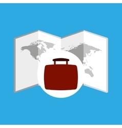 Travel concept world map icon vector