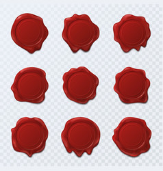 wax seal or stamps for letter or document sign vector image