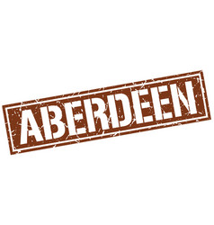 aberdeen brown square stamp vector image
