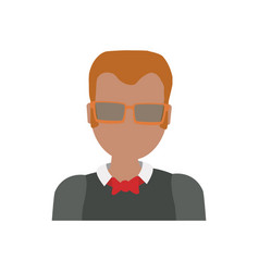 adult male avatar elder faceless vector image
