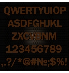Alphabet background-brick wall vector image
