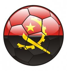 angola flag on soccer ball vector image vector image