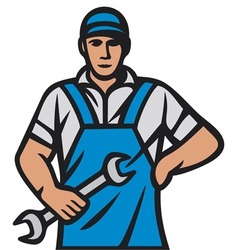 auto mechanics - professional worker vector image vector image