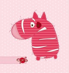 cartoon pink zebra vector image