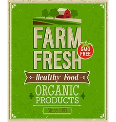 Farm fresh color vector