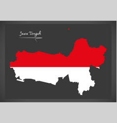 jawa tengah indonesia map with indonesian vector image vector image