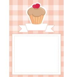 Menu wedding card or baby shower invitation vector image vector image
