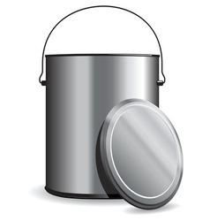 paint pot vector image vector image