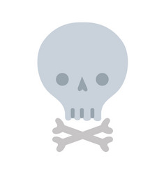 skull with bones to danger and warning symbol vector image