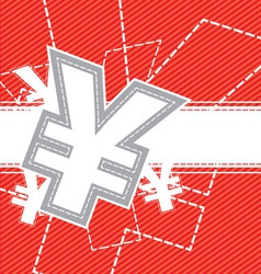 yen money icon background vector image