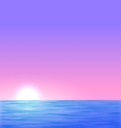 Background with the sunrise sea sun vector image