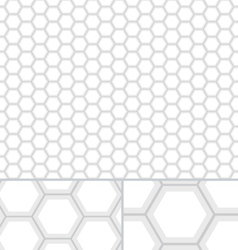 Clean honeycomb seamless pattern vector