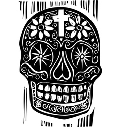 Day of the Dead Skull vector image