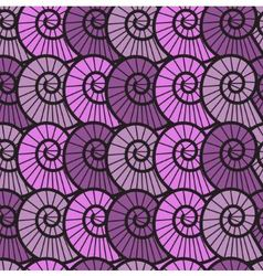 seamless lilac background with shells vector image