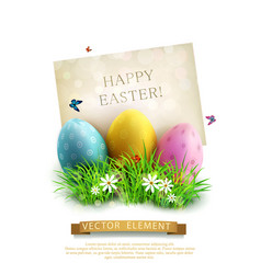 vintage element for design easter eggs vector image vector image