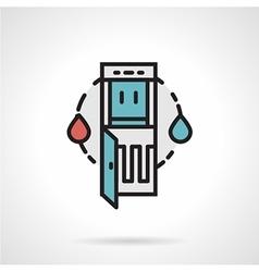 Water dispenser flat line icon vector