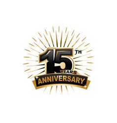 15th anniversary vector