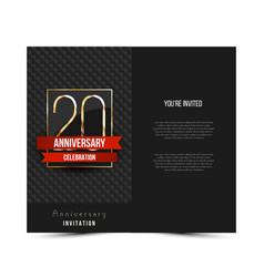 20th anniversary invitation card template vector